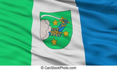 Closeup Valka city flag, Latvia - Valka closeup flag, city...