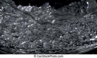 closeup, van, fris, mineraal water, tred, glas