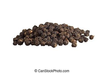 closeup, van, zwarte peper