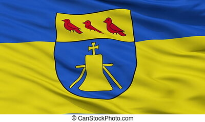 Closeup Velen city flag, Germany - Velen closeup flag, city...