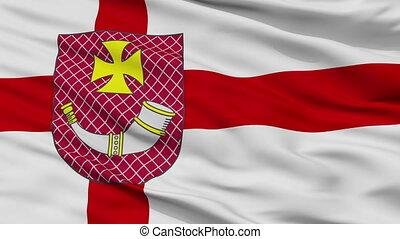 Closeup Ventspils city flag, Latvia - Ventspils closeup...
