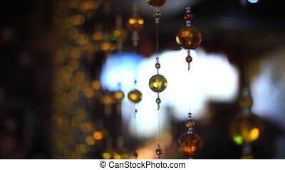 Closeup view of contemporary light fixture. - Closeup view...