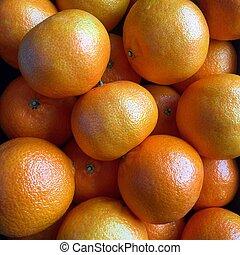 Closeup view of ripe satsumas