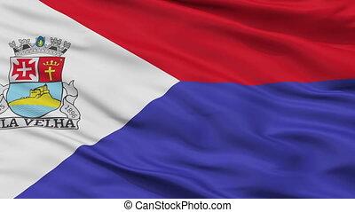 Closeup Vila Velha city flag, Brasil - Vila Velha closeup...