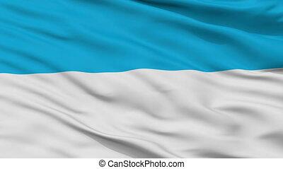 Closeup Viljandi city flag, Estonia - Viljandi closeup flag,...