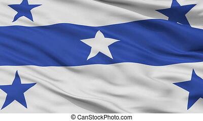 closeup, ville, drapeau, polynésie française, gambier, îles