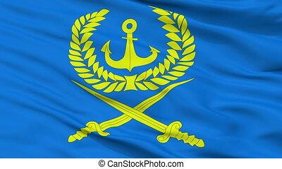 Closeup Viluchinsk city flag, Russia - Viluchinsk closeup...