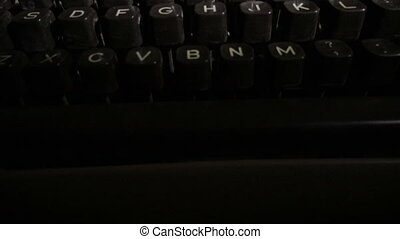 Closeup Vintage Typewriter