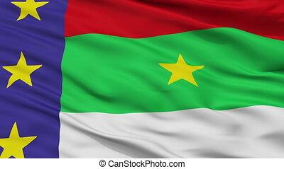 Closeup Vitoria da Conquista city flag, Brasil - Vitoria da...