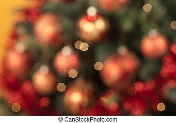 closeup, von, gefärbt, weihnachten, kugeln, fokus, auf, gefärbt, backg