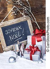 closeup, von, weihnachtsgeschenke