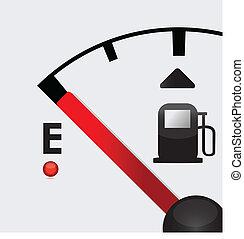 closeup, vuoto, serbatoio carburante, illustrazione