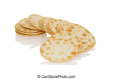 closeup water crackers