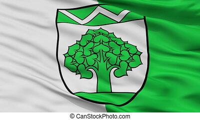 Closeup Werneuchen city flag, Germany - Werneuchen closeup...