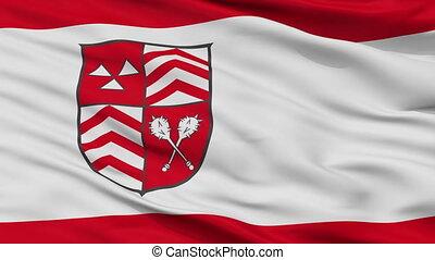 Closeup Werther city flag, Germany - Werther closeup flag,...