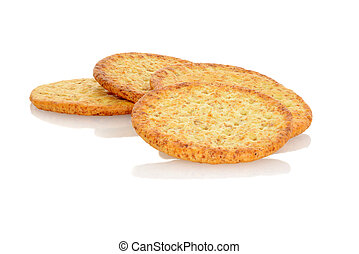 closeup whole wheat crackers