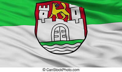 Closeup Wolfsburg city flag, Germany - Wolfsburg closeup...