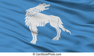 Closeup Wolkowysk city flag, Belarus - Wolkowysk closeup...