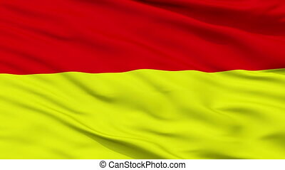 Closeup Wroclaw city flag, Poland - Wroclaw closeup flag,...