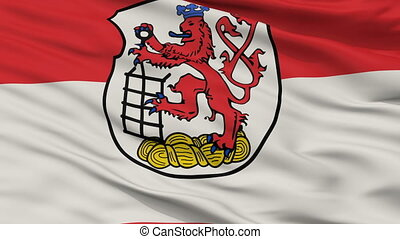 Closeup Wuppertal city flag, Germany - Wuppertal closeup...