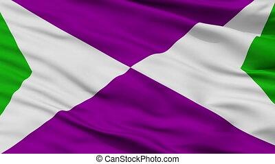 Closeup Yabucoa city flag, Puerto Rico - Yabucoa closeup...