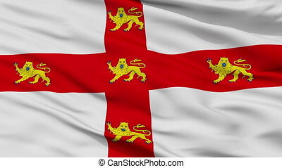 Closeup York city flag, UK - York closeup flag, city of UK,...