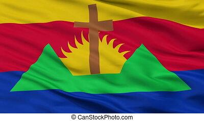 Closeup Zamora city flag, Venezuela - Zamora closeup flag,...