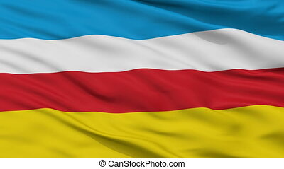 Closeup Zory city flag, Poland - Zory closeup flag, city of...
