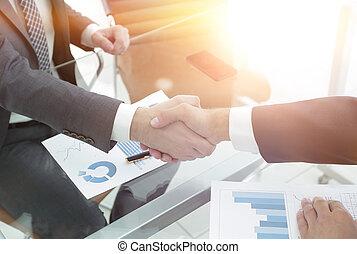 closeup.handshake business partners
