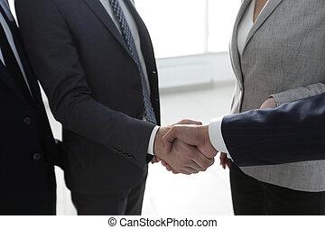 closeup.handshake of business people