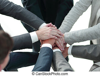 single professional business team