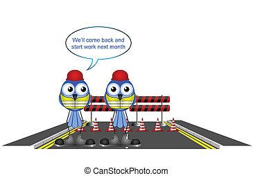 closing a road