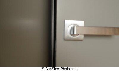 Closing Door in Living Room. Magnetic lock.
