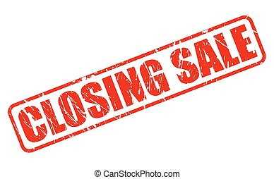 CLOSING SALE RED STAMP TEXT