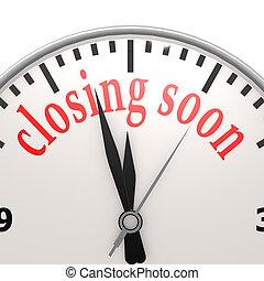 Closing soon clock