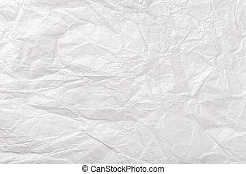 closrup., バックグラウンド。, しわにされたペーパー, 手ざわり, 包むこと, 古い, 白