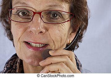 closup of a callcenter agent