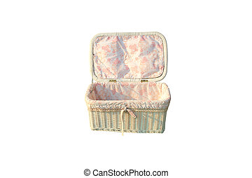 cloth box of baby on isolated
