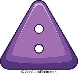 Cloth button icon, cartoon style