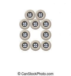 Cloth buttons isolated on white background