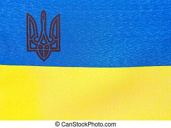 Cloth flag of Ukraine
