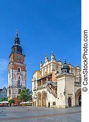 Cloth Hall and Town Hall Tower, Krakow, Poland