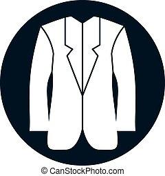 Cloth icon, vector illustration of man jacket.