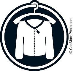 Cloth icon, vector illustration of man sweater.
