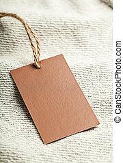 Cloth label blank brown mockup