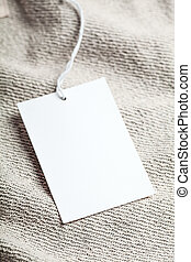 Cloth label blank whie mockup