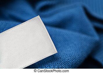 Cloth label laundry care blank mockup