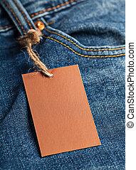 Cloth label tag blank mockup