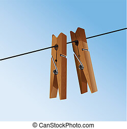 cloth pegs with a under the sky