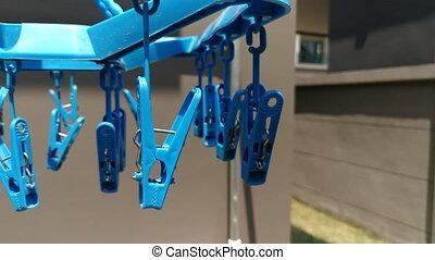 Cloth pin hanging